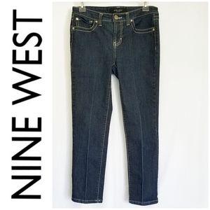🎀 3/$25 Nine West Capri Jeans in Night Blue